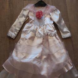 Pembe şık elbise 116/128
