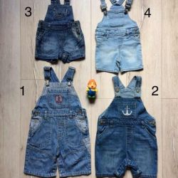 Denim overalls shorts sandboxes