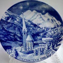 Plate Bavaria Wall Cobalt