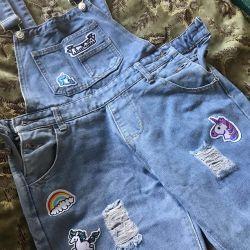 Комбинезон джинсы новые
