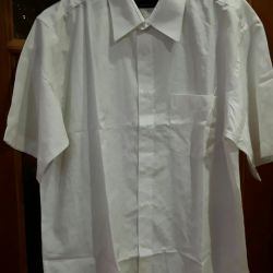 White shirt with short sleeves, new