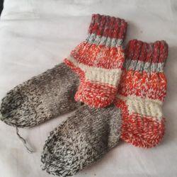 Yünlü çoraplar