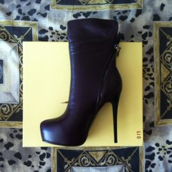 Low boots, 38p autumn, leather, NOT B / Y