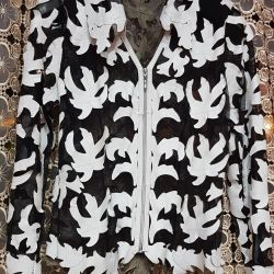 Shirt mesh with leather leaves Turkey