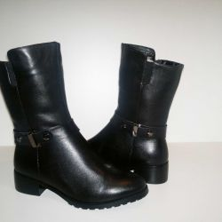 Winter Boots 36-41r Genuine leather + Nat.meh