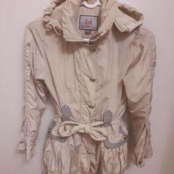 Insulated raincoat on fleece for girls