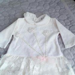 Dress. R.68 100 rubles velor, cotton.