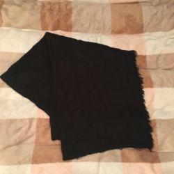 Men's black scarf