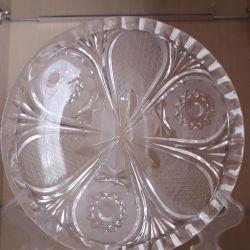 Bohemian crystal saucer.