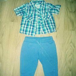 Bir yıl için pantolon + gömlek