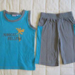 T-shirt and children's shorts 98 set futurino