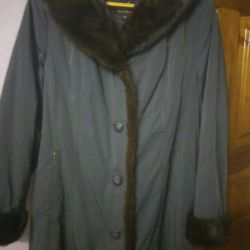 Coat cu nurca 2XL, iarna, primavara, toamna