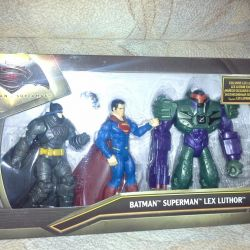 Set Batman Superman lex luthor new