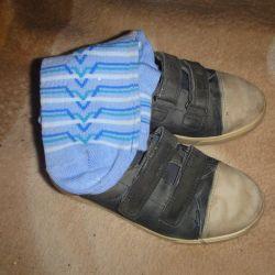 Παιδικά πάνινα παπούτσια Velcro, ECCO