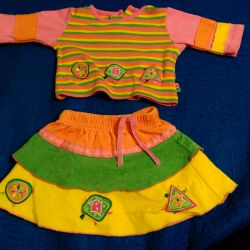 Suit for the girl, size 68.