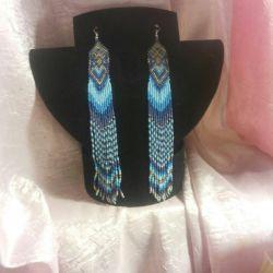Long beaded earrings