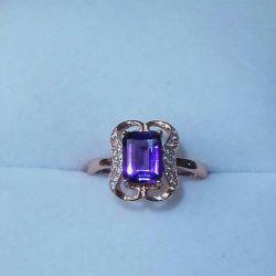 аметист серебряное кольцо