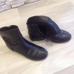 Ankle boots for children, 34size., Nat leather