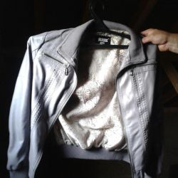 The jacket is light out of the soft leather.