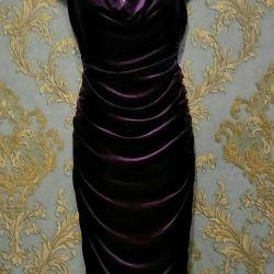 Вечернее бархатное платье H&M