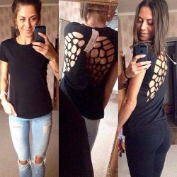 T-shirt with wings