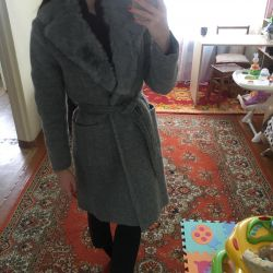 Coat gray / rabbit