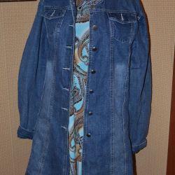 Пальто джинсовое (фирменное)