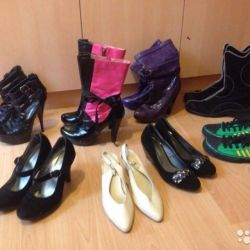 8 pairs of comfortable shoes, boots, shoes, sneakers, boats