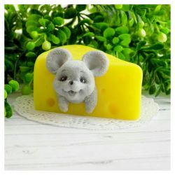 handmade soap mouse in cheese