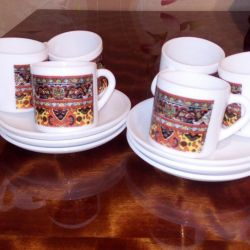 Coffee cups, France.