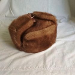Ushanka mink hat 58 New