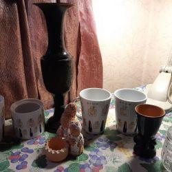 Распродажа посуды и вазы