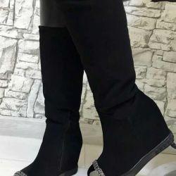 Φθινόπωρο μπότες σε σφήνα νέα