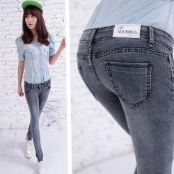 Женские джинсы, заниженая талия, стрейч,