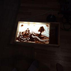Light table for drawing with sand