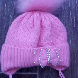 Cap for a girl autumn-winter