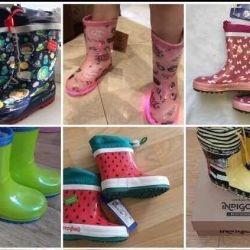 Flamingo rubber boots
