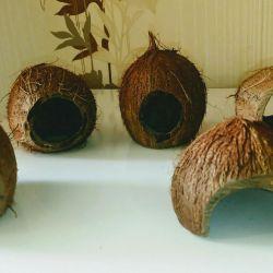 Укрытия для рыбок из кокоса