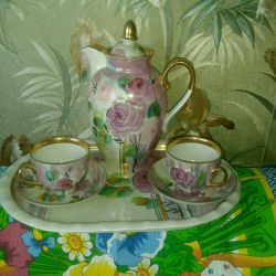 Kahve porselen servisi