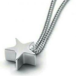Silver asterisk pendant