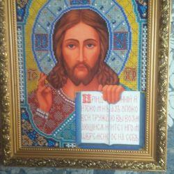 Продам иконы вышитые чешским бисером.
