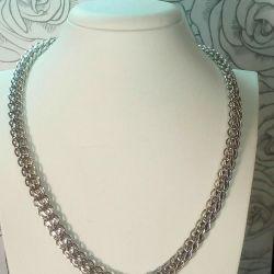 Silver chain 925 sample.