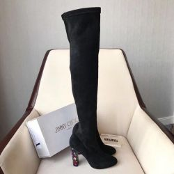 Jimmy Choo new collection black jackboots