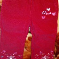 Παντελόνια βελούδου. Gloria Jeans.