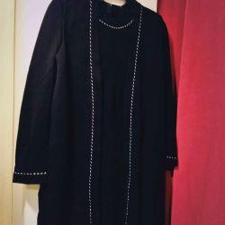 Dress + vest with silver finishing 48-50 semi-wool