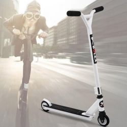 Extreme White Stunt Scooter