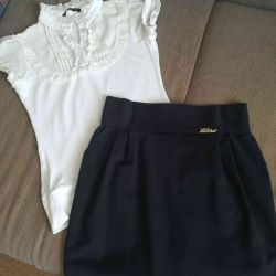 Skirt and blouse