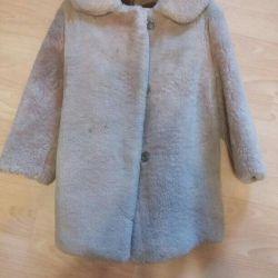 Natural muton fur coat, for 3-4 years