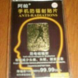 Radyasyona karşı telefon koruma etiketi