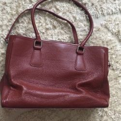 A bag. Leather